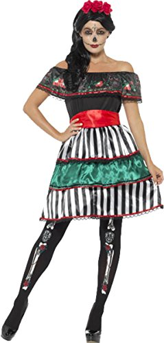 Senorita Costume Uk (Day Of The Dead Senorita Doll Costume Multi X-large Uk Dress 20-22)