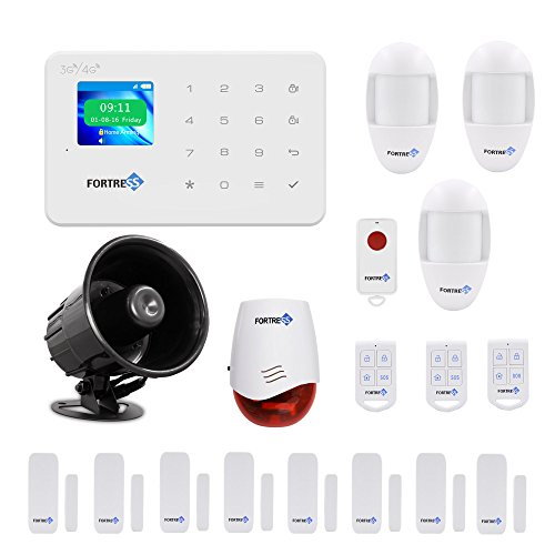 Security System Deluxe Kit (GSM 3G/4G Security Alarm System- VEA Deluxe Wireless DIY Home and Business Security System Kit by Fortress Security Store- Easy to install Security Alarm)