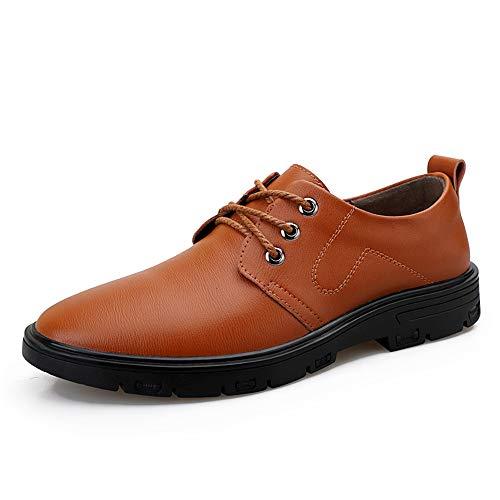 Marron 43 EU Cuir verni Mode confortable Oxford Chaussures Pour Hommes Chaussures Formelles à Lacets Style OX En Cuir Classique Solide Couleur Occasionnel D'affaires Décontracté Chaussures habillées