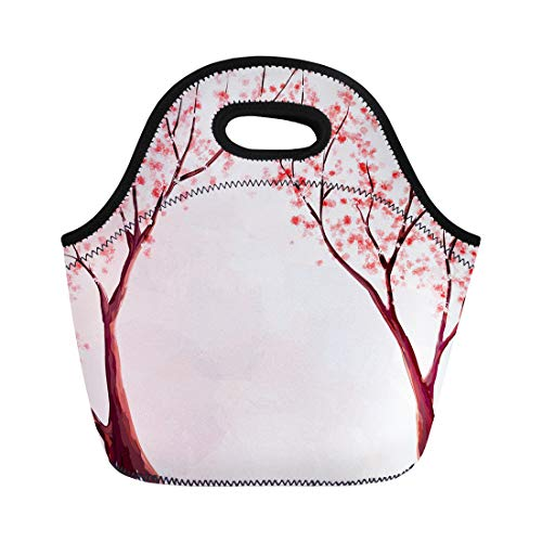 0af6c85bf050 Semtomn Lunch Bags Apple Pink Tree Cherry Blossom Watercolor Hanami April  Beautiful Neoprene Lunch Bag Lunchbox Tote Bag Portable Picnic Bag Cooler  ...