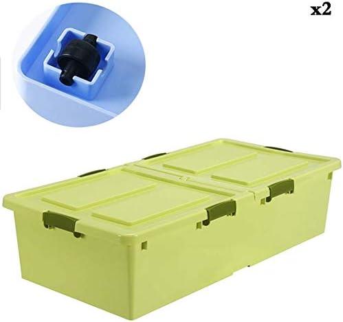 Caja de almacenamiento debajo de la cama con ruedas KEKET1 Con ...
