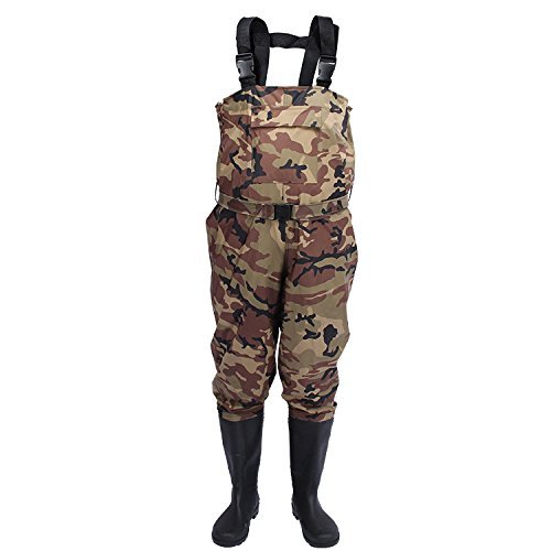 Sport Tent Nylon PVC Chest Wader 100% Waterproof Fishing Hunting Wading Overalls Bootfoot Pants UK Size 5 6 6.5 7 8 9 10…
