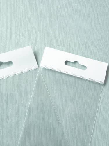 MyCraftSupplies 3x3 Inch HANG TOP Clear Self Adhesive Cello Bags Set of 100