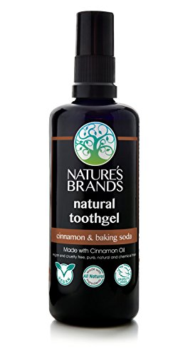 Herbal Choice Mari Natural Toothgel, Cinnamon & Baking Soda; 3.4floz (Flavored Herbal Toothpaste)