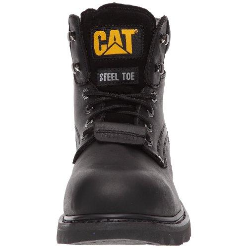 Caterpillar Sheffield SB, Botas de cuero Hombre Negro (Black)