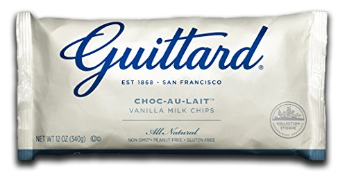 Guittard Chocolate Chips, Choco-au-Lait Milk Vanilla, 12 Ounce (Pack of ()