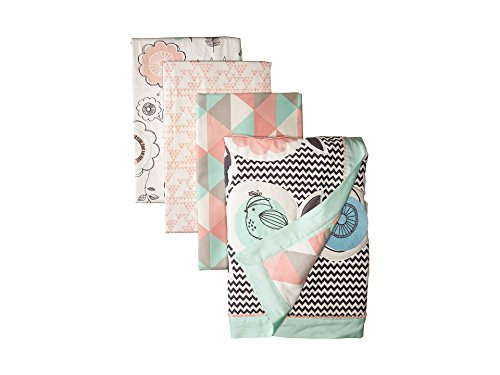 Lolli Living 4-Piece Baby Bedding Crib Set with Sparrow Pattern. Complete Set with Quilt, 2 Fitted Sheets, and Bed Skirt. ()