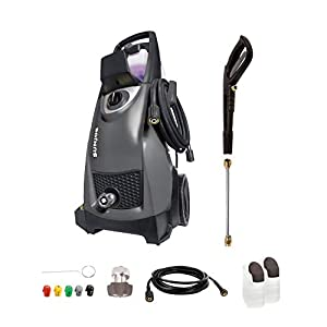 Sun Joe SPX3000-BLK 14.5-Amp 2030 PSI Max 1.76 GPM Max Electric High-Pressure Washer w/ Detergent Tanks, Cleans Cars…