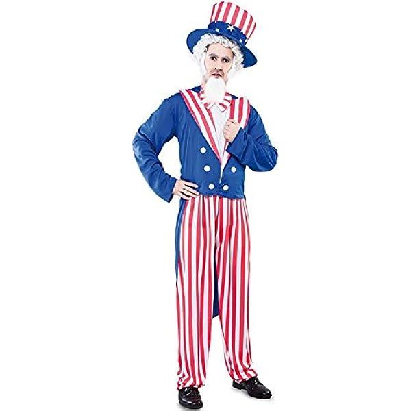 Fyasa 706176-t04 Uncle Sam disfraz, tamaño grande: Amazon.es ...