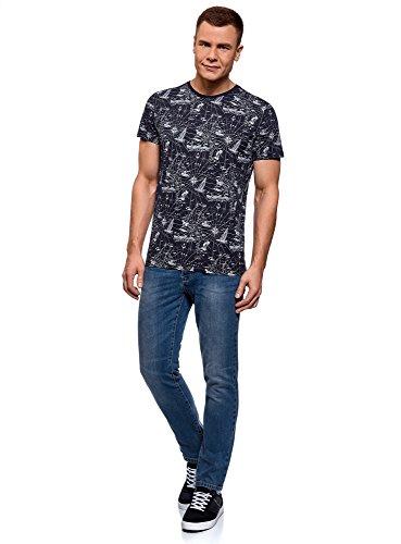 shirt Stampa Marinara 7910g Con In Blu Ultra Cotone T Oodji Uomo q8BU0nRtB