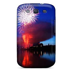 Galaxy S3 Fireworks Fireworks Stock Photos Print High Quality Tpu Gel Frame Case Cover