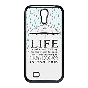 Tony Diy DIY SamSung Galaxy S4 I9500 case cover, Zyoux Custom Brand New SamSung Galaxy S4 I9500 case cover - life is not about waiting wtbmHvRRlYS for the storm to pass