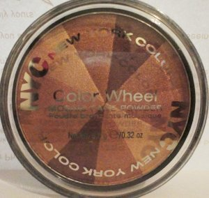 NYC New York Colo,r Color Wheel Mosaic Face Powder Bronze Bliss 2/PK, (LIMITED EDITION)