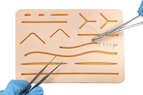 봉합을 연습하기 위한 상처가 있는 업그레이드 봉합 패드 - 쉽게 분리되거나 찢어지거나 찢어지지 않습니다. / 봉합을 연습하기 위한 상처가 있는 업그레이드 봉합 패드 - 쉽게 분리되거나 찢어지거나 찢어지지 않습니다.