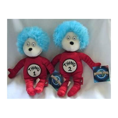 "Dr. Seuss Thing 1 and Thing 2 Plush Set 12"": Toys & Games"