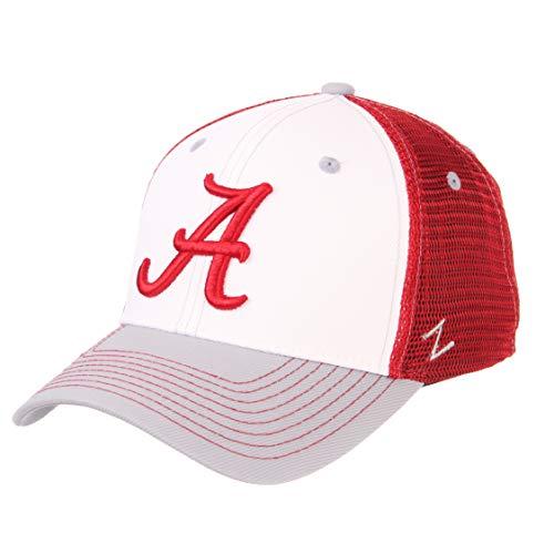 - ZHATS NCAA Alabama Crimson Tide Mens Threepeatthreepeat Relaxed Cap, White/Team Color, Adjustable