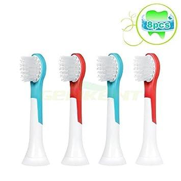 Genkent Escobilla de repuesto para cepillo de dientes Philips Sonicare HX6032/HX6034, 8 cabezales, para niños de 4 - 7 años: Amazon.es: Juguetes y juegos