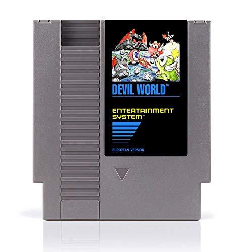 BrotheWiz 72 pin 8 bit game Devil World 8 Bit Game Card for 72 Pins Game Players