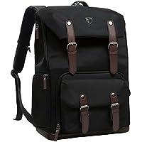 BAGSMART Camera Backpack for SLR/DSLR Cameras & 15 Macbook Pro with Waterproof Rain cover, Black