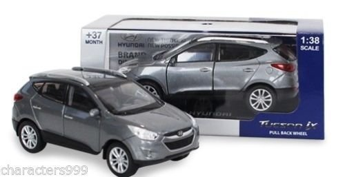 HYUNDAI Collection Miniature car toy 1:38 Diecast car scale Tucson Silver!!KOREA