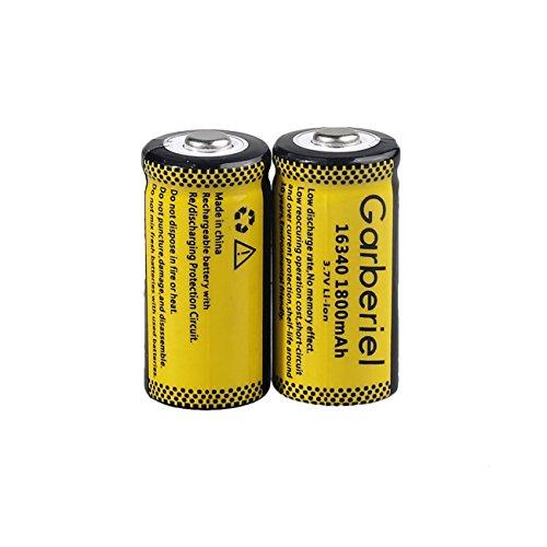 Garberiel 10-Pack 3.7v 16340 Li-ion Rechargeable Battery CR123A Battery for LED Flashlight by Garberiel (Image #5)