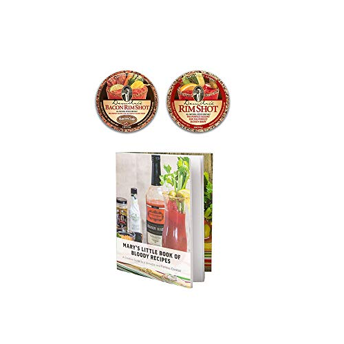Demitri's Flavored Bloody Mary Rim Salt Variety 2 Pack - Spiced Rim Salt & Bacon Rim Salt W/Recipe Booklet ()