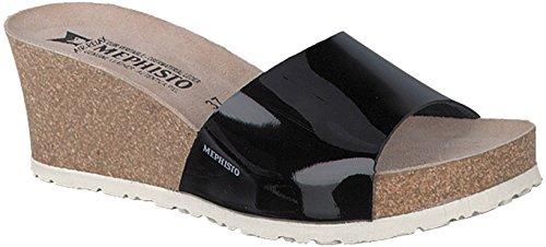 Mephisto Women's Lise Slide Sandal, Black Patent, 10 M US (Mephisto Women Shoes)