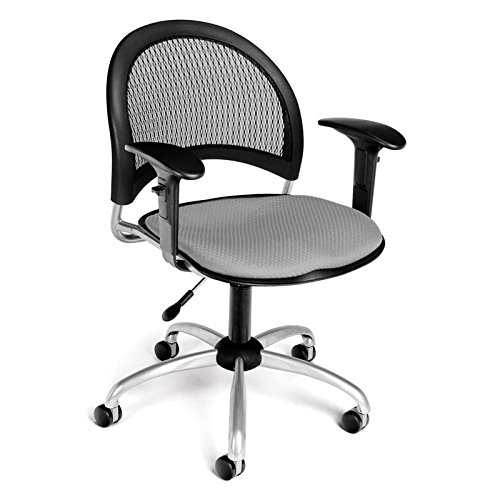 (OFM 336-AA3-2218 Moon Swivel Chair with Arms, Putty)