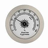 Glass Hygrometer, Round Silver