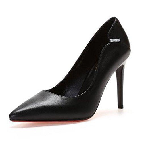 Court Schuhe Mit Spitz Schuhe Schuhe Hohen Hochzeit Leder High Heels Absätzen Pumps Bankett Flachen Damen q8cWORTA