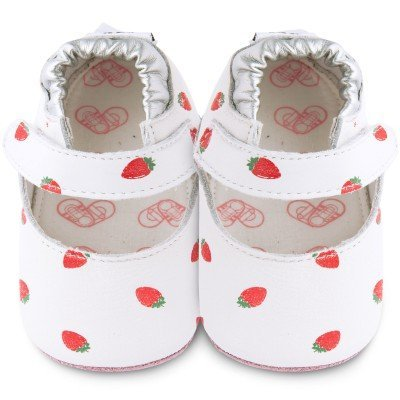 Shooshoos-Chaussons bébé cuir Strawberry Patch fraise (18-24 mois)