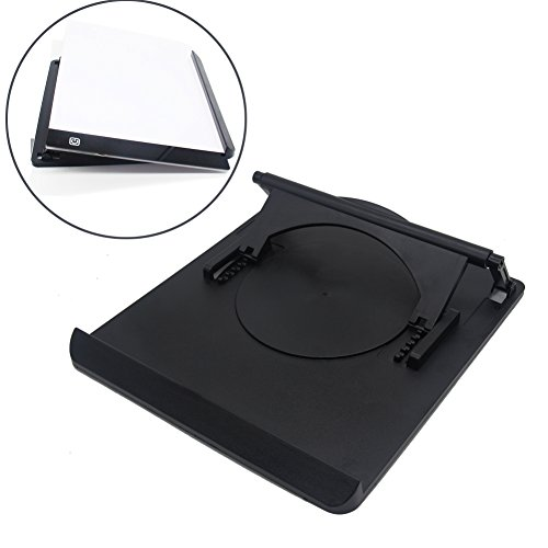 Light Box Pad Stander Parallel Halo Multifunction Rotate in 360° Adjusting 9 Angle Points Skidding Prevented Tracing Holder for Huion/Litup LED Light Table A4 LB4 L4S - Black