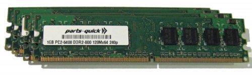 4GB Memory Upgrade for Dell Optiplex GX280 Desktop/ Mini Tower Desktop PC 4 X 1GB DDR2 NON-ECC PC2-6400 240 pin 800MHz DIMM RAM (PARTS-QUICK BRAND) - Optiplex Gx280 Mini Tower