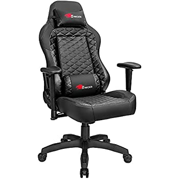 [Upgraded Version]Homall Gaming Chair Racing Style High-back Office Chair Executive Computer Chair With Lumbar Support and Headrest (Black)