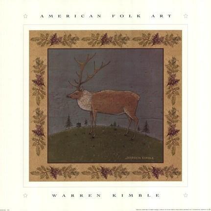 Warren Kimble - Folk Elk NO LONGER IN PRINT - LAST ONE!!