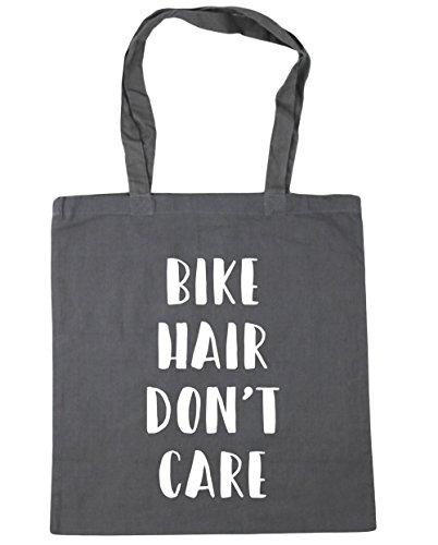 HippoWarehouse bicicleta pelo Don 't care Tote Compras Bolsa de playa 42cm x38cm, 10litros gris grafito