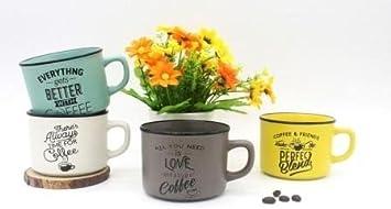 DISOK - Taza Time For Coffee - Tazas Originales con Frases, para Detalles para Bodas, Bautizos, Comuniones y Regalos de Cumpleaños (Precio Unitario)