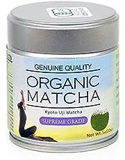 Supreme Organic Kyoto Uji Matcha 1oz(30g) - Ceremonial Grade - USDA and JAS Certified; Genuine Tea Powder Made From 100% Real Tencha -No Sugar, No Additives, Radiation Free…