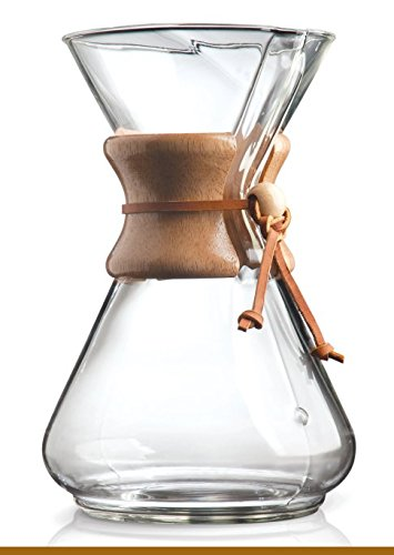 Chemex Classic Glass Coffee Maker with Foxgallery Guide, 10-Cup (Lab Glass Coffee Maker)
