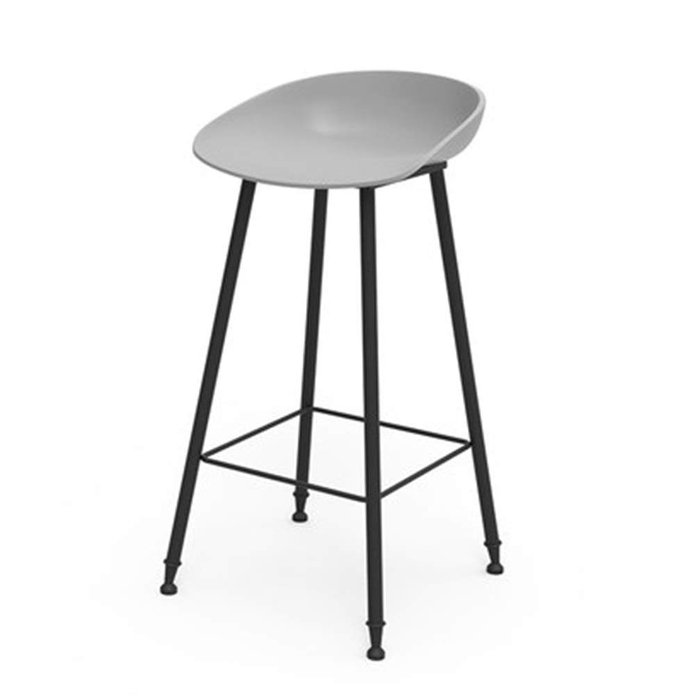 G Bar Chair Iron Art High Stool Simple Creative Reception Chair Household Dining Chair 9 colors 1 Size (color   F)
