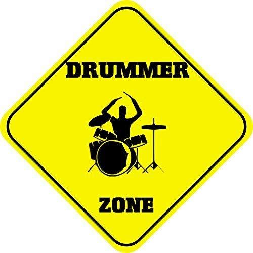 (weewen Drummer Zone Novelty Tin Sign Gift Yard Decorative Aluminum Metal Sign)