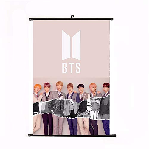 (CCUT Kpop BTS Bangtan Boys Wall Scroll Hanging Paintings for A.R.M.Y (Style 2))