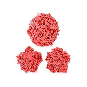 meiguiyuan 10pcs/Set PE Foam Rose Flower 1 Bouquet Artificial Flowers Vivid Flores Fake Flowers Wedding Home Valentine's Party Decoration 17