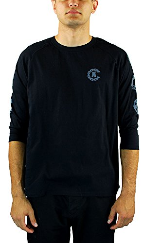 Crooks and Castles Men's Covelli Raglan LS T Shirt Black
