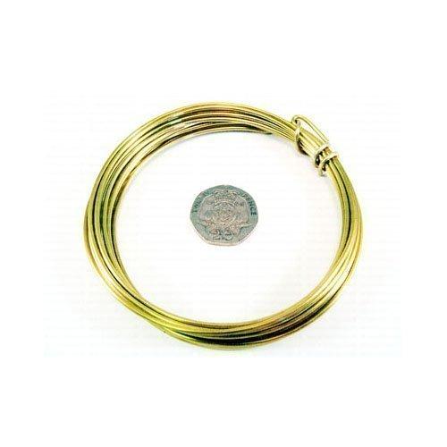 W9060 1 x DOr Rond Fil De LArtisanat En Laiton 10 M/ètre x 0.6mm Rouleau Charming Beads