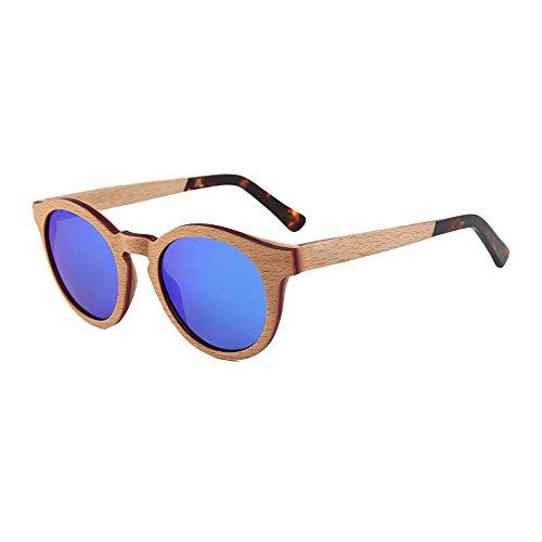 polarizadas de con Gafas madera Uno sol tablas sol redondas y sexo Shop de gafas polarizadas de de sol tabls empalme de 6 damas masculino Gafas de fZnwqxPO