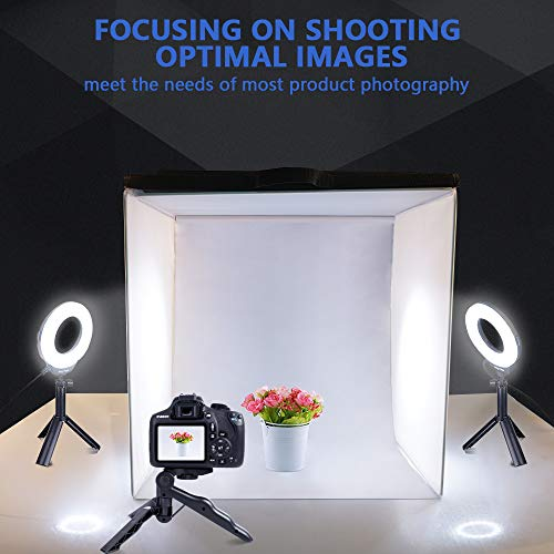 Photo Light Box, TRAVOR Display Box 16''/40cm Foldable & Portable Studio Photography Photo Box Kit for Large Studio and Product Display, Great Photography Accessory for Jewelry, Goods, Foods (1800LM) by Travor (Image #5)