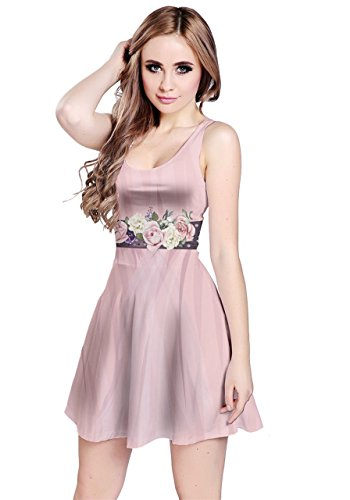 CowCow Womens Light Pink Cosplay Clothes Sleeveless Dress, Light Pink - M