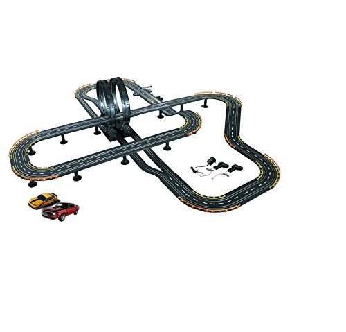 Gloden Bright 6678 Big Loop Electric Mustang Racing Set, Black Electric Racing Slot Cars