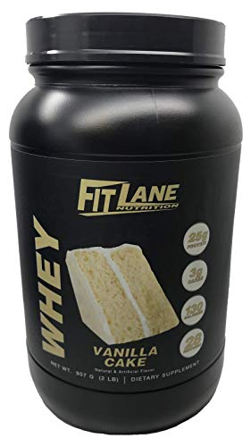 Low Carb Whey Protein Shake. Best Tasting Protein Powder for Men and Women. Protein Whey by Fit Lane Nutrition 2 lbs Vanilla Flavor